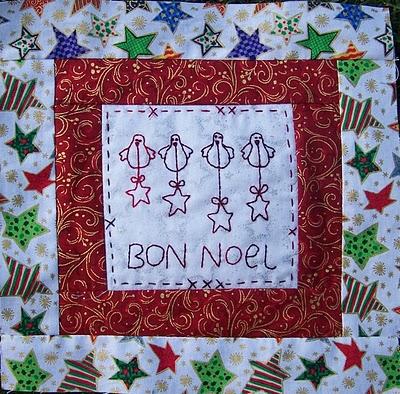 Bon Noel stitchery