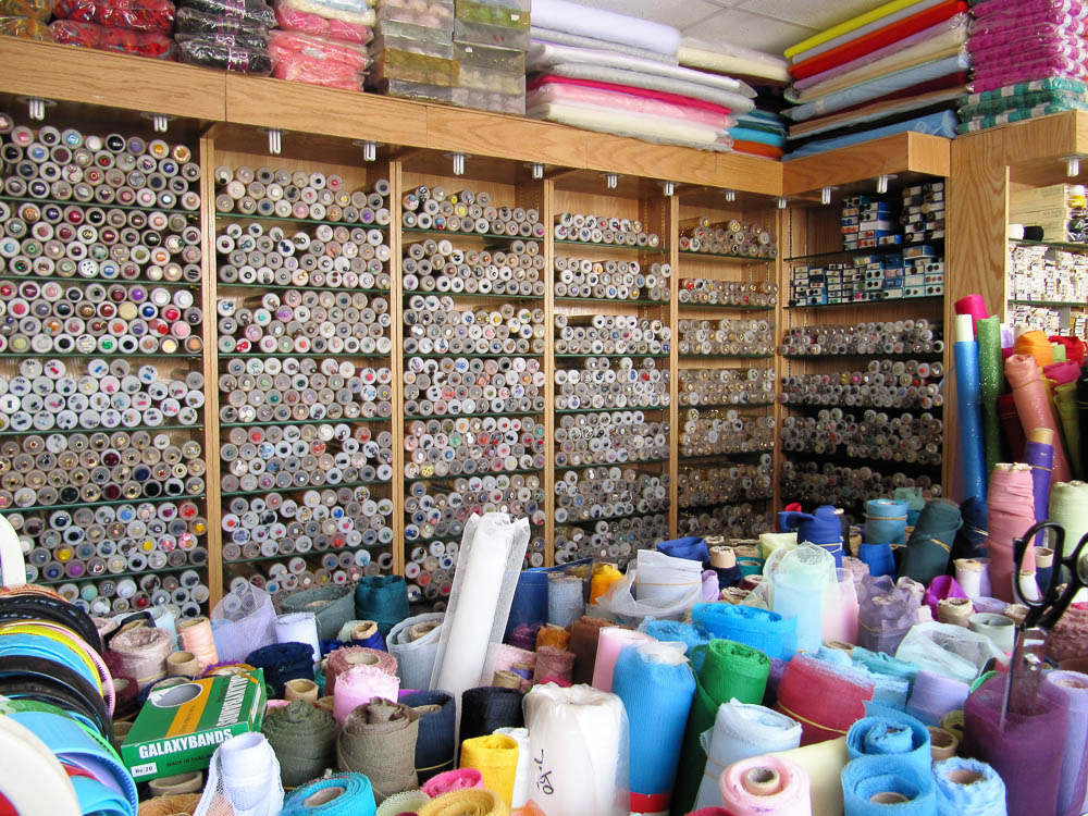 Notions shop with buttons, lace, threads, yarn, zips and everything else you could possibly need!