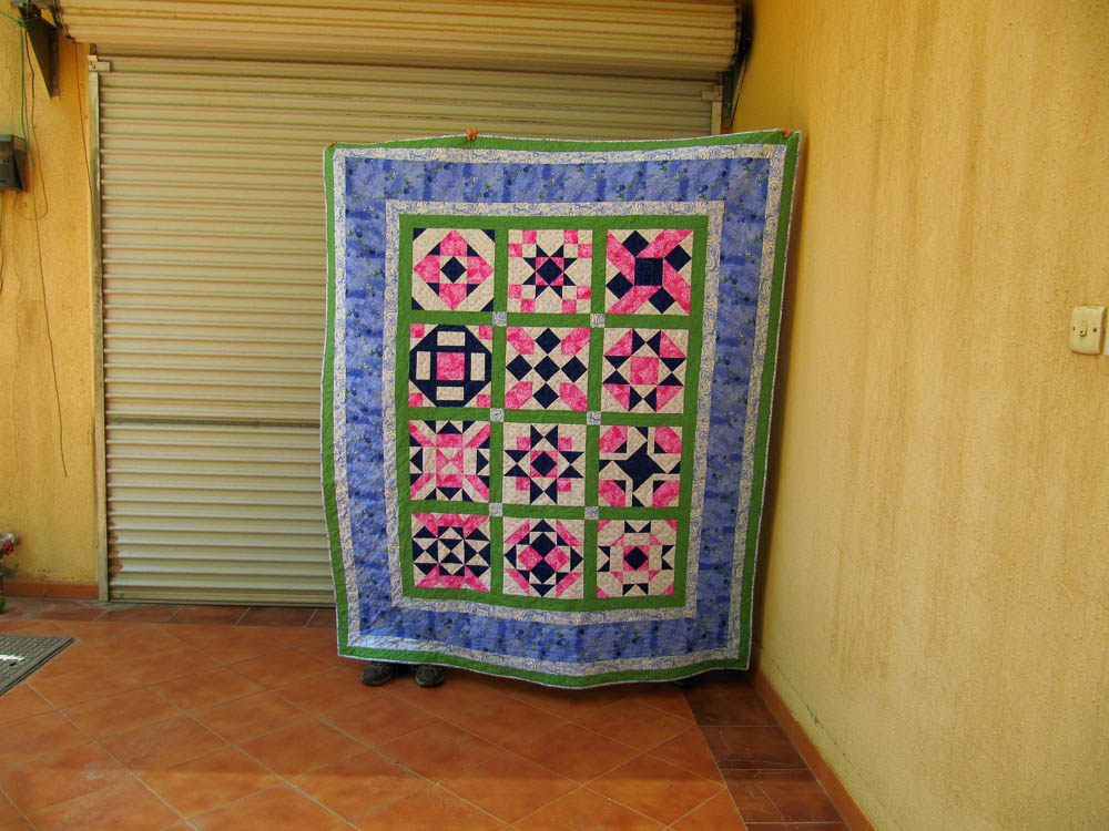 NIne Patch Nirvana free block of the month, link to pattern in blog post