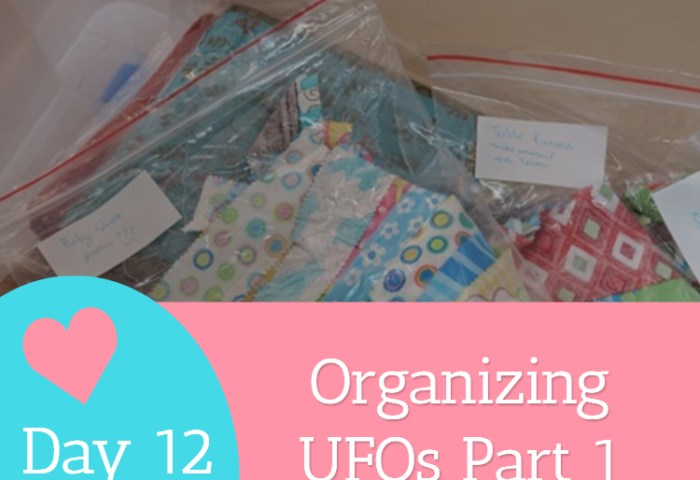 Day 12 – Organizing UFOs Part 1