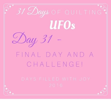 Day 31 – Final Day and a Challenge!