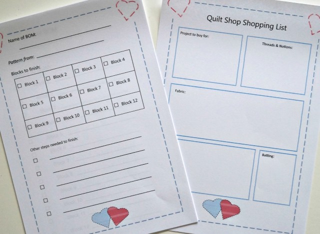 Free Quilting UFO Printables