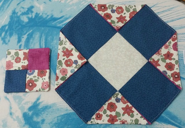 Four patch coaster and jewelry pouch