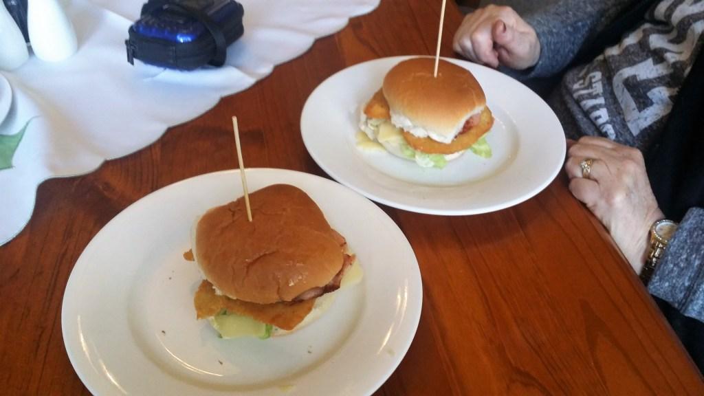 chicken snitzel burgers