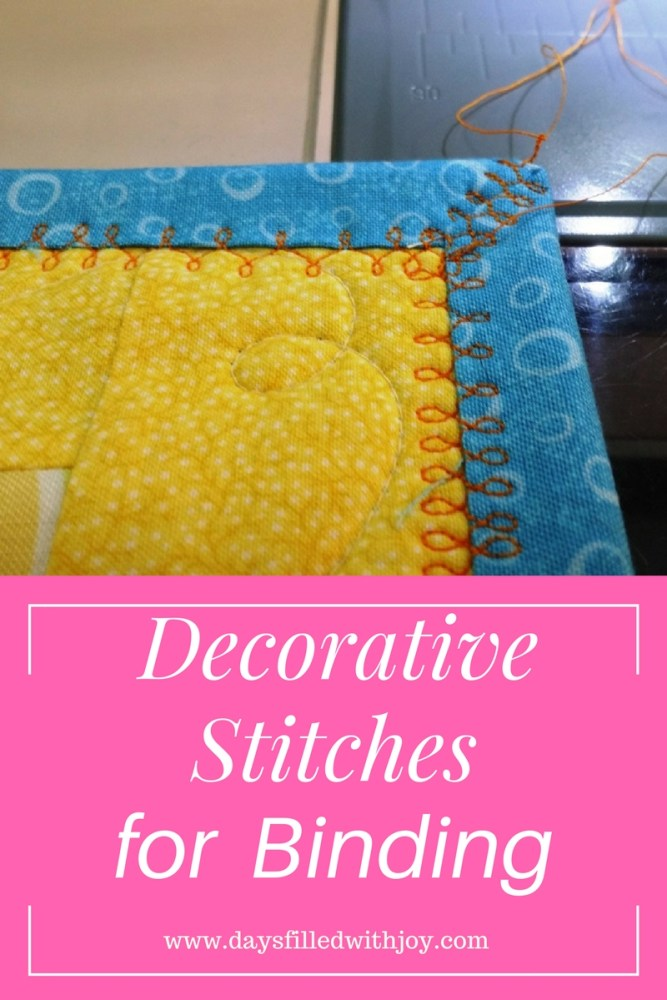 Janome decorative stitches for binding
