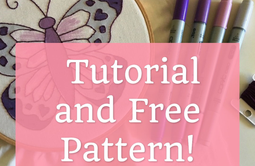 Butterfly Embroidery Art Free Pattern and Tutorial