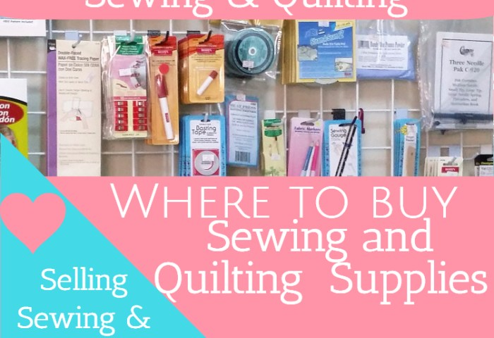 Where to Buy Sewing and Quilting Supplies to Sell