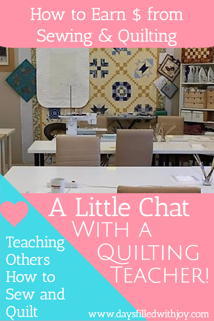 A little chat with a quilting teacher
