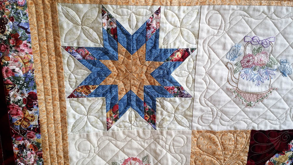beautiful quilting and stitching