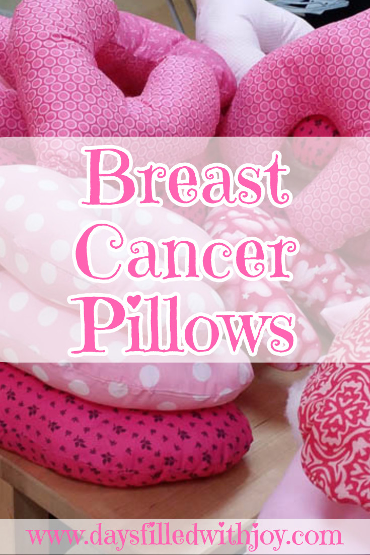 Sewing pillows for Breast Cancer