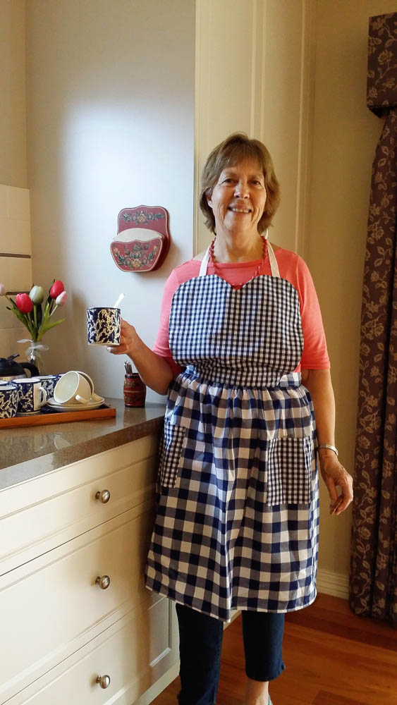 Heart shaped apron