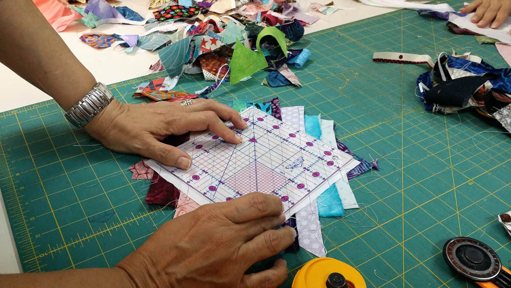 Strings are narrow strips of fabric that you can use to make scrappy quilts