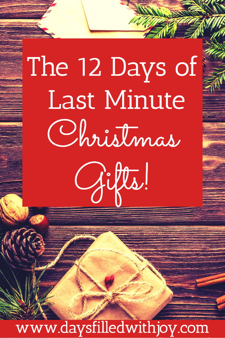 The 12 Days of Last Minute Christmas Gifts