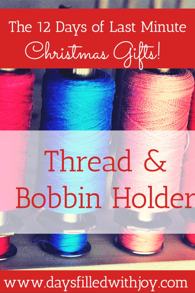 DIY Thread and Bobbin holder tutorial - everyone who sews needs at least one of these! The dowel is long enough to keep the thread and corresponding bobbin together!