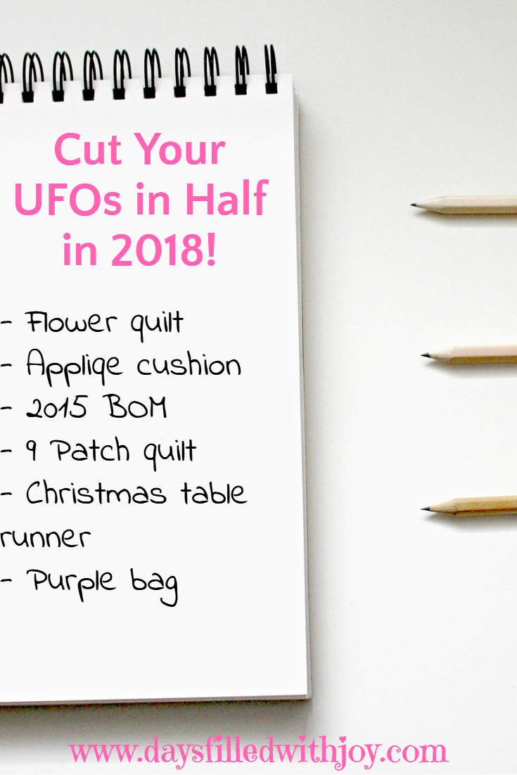 Cut Your UFOs in Half in 2018 Challenge