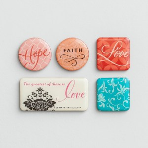 Love - Inspirational Magnets, Set of 5