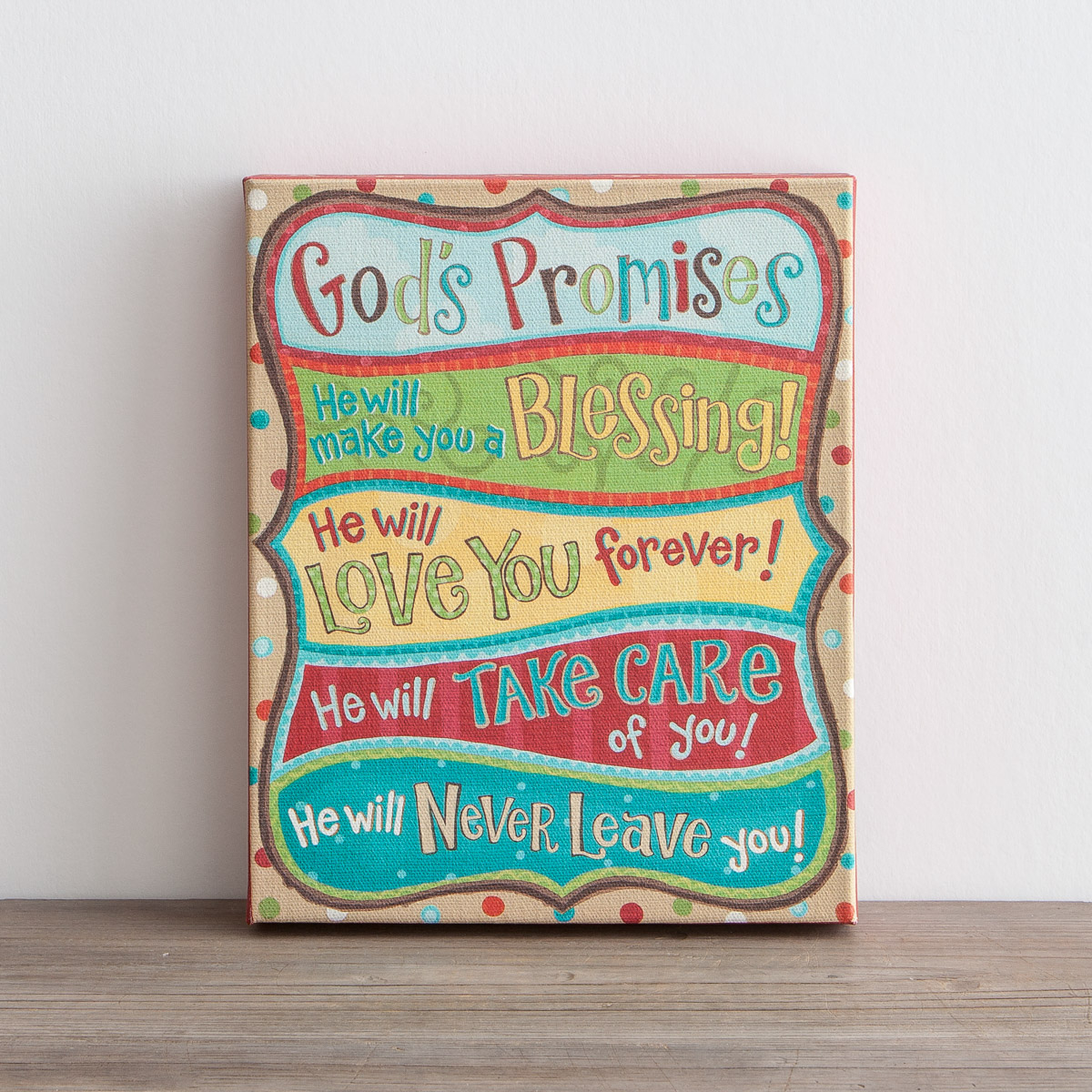 God's Promises - Wrapped Canvas Print