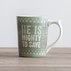 Lyrics for Life - Mighty to Save - Classic Mug