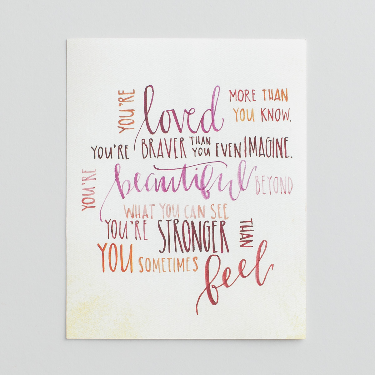 You're Loved - 8x10 Art Print
