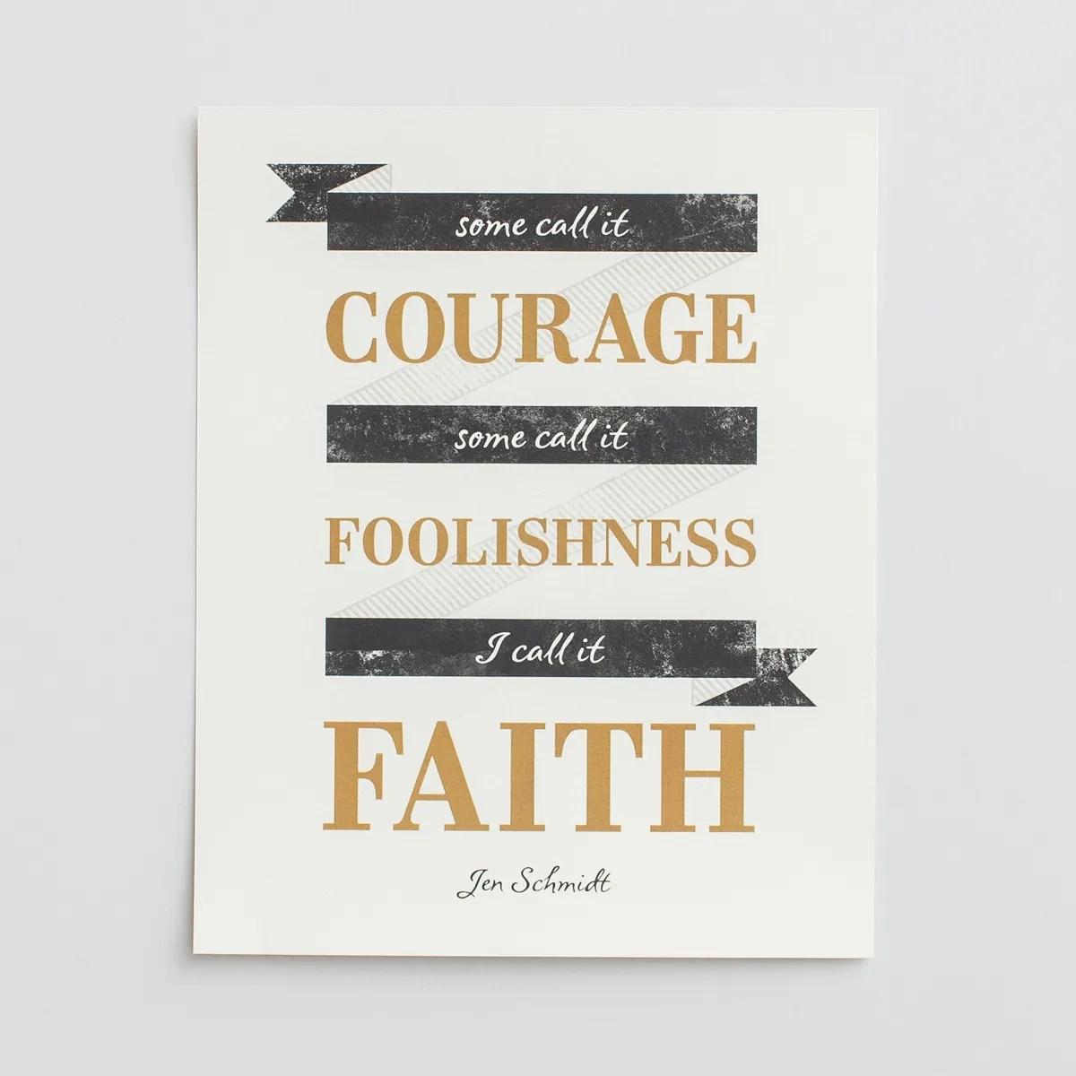 I Call It Faith