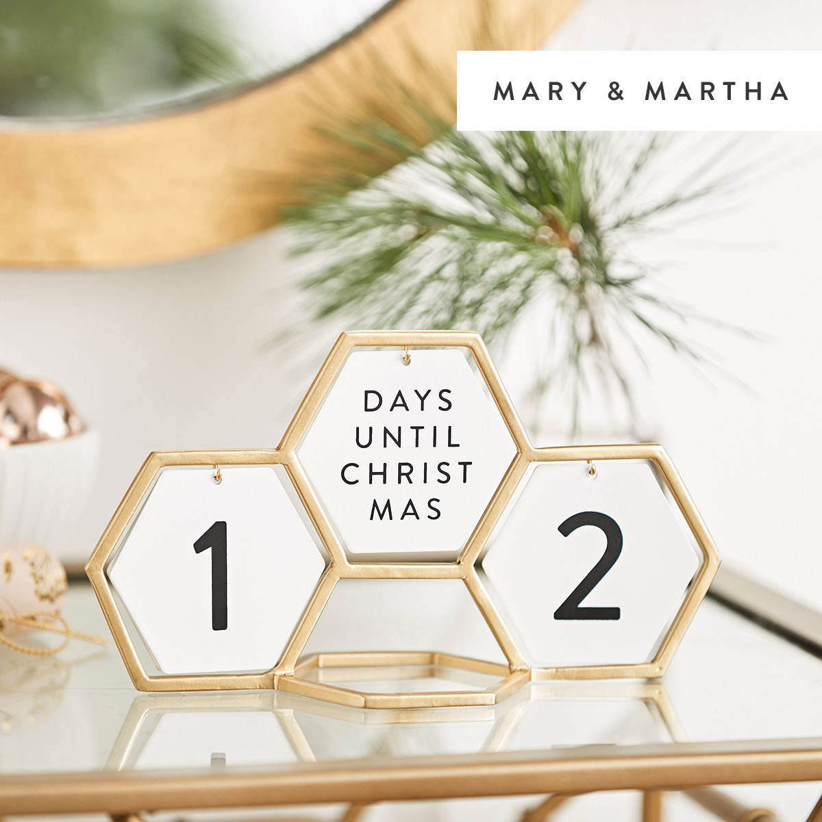 Geometric Holiday Count Down - Christmas + Every Day
