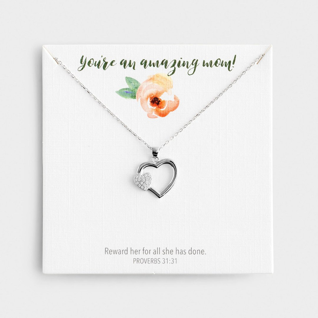 Amazing Mom! - Sterling Silver Necklace