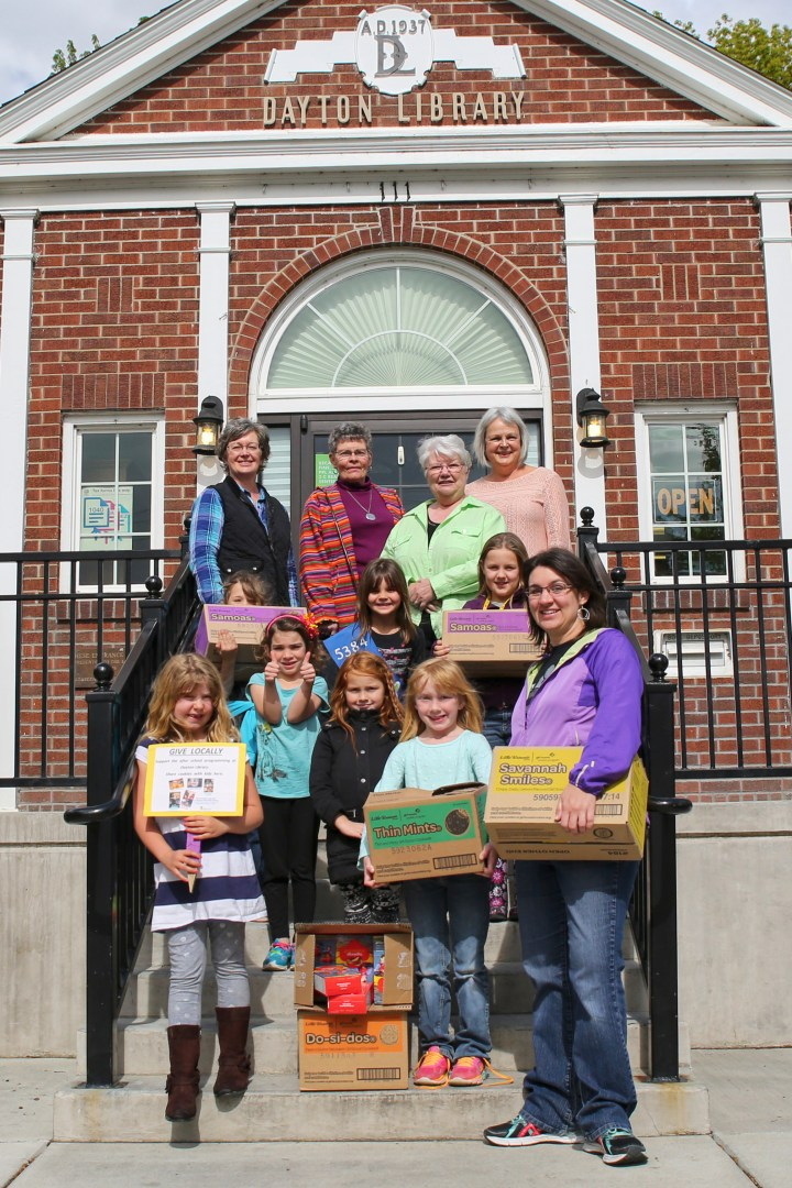 Local Girl Scouts Donate Cookies to Library