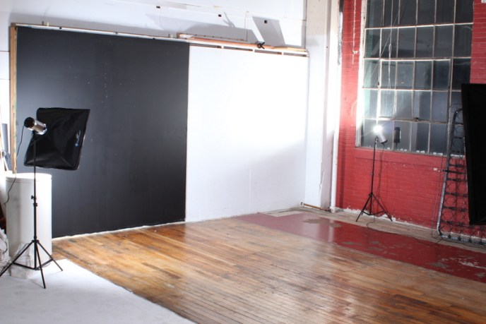 Backstage working space with Hardwood Floors