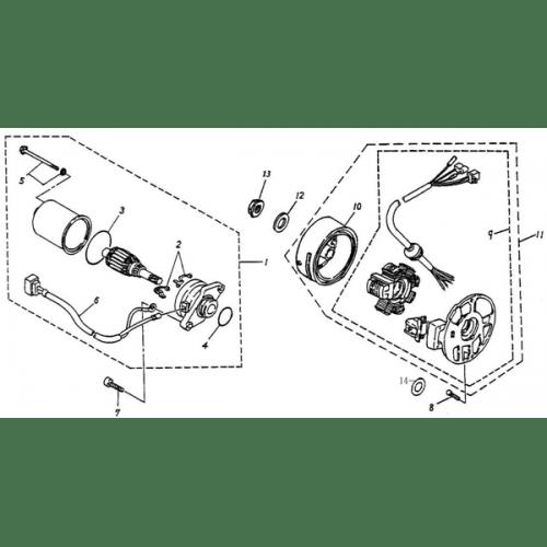 Generator, Starting Motor (ADLY RT-50 Road Tracer)