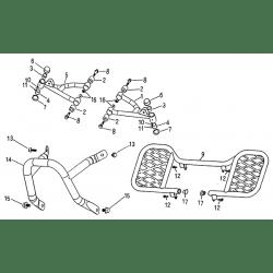Arm, Floor Panel, Bumber (Blazer 50cc ATV)