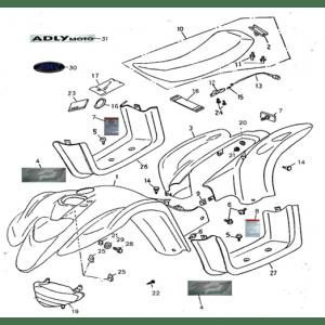 Body Cover, Seat (Adly ATV 90II 4T (CVT))