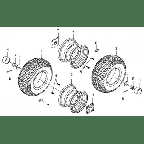 Rear Wheel (Adly ATV 90II 4T (CVT))