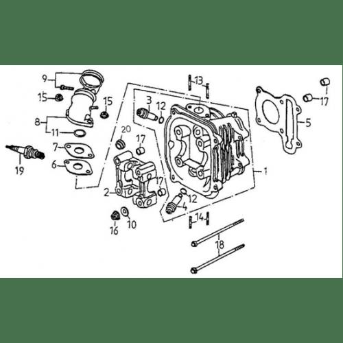 Cylinder Head (Adly ATV 150S II CrossXRoad)