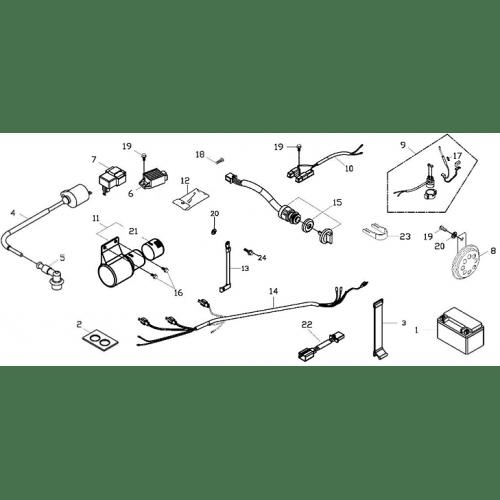 Elecrical Parts (Adly ATV 150S II CrossXRoad)