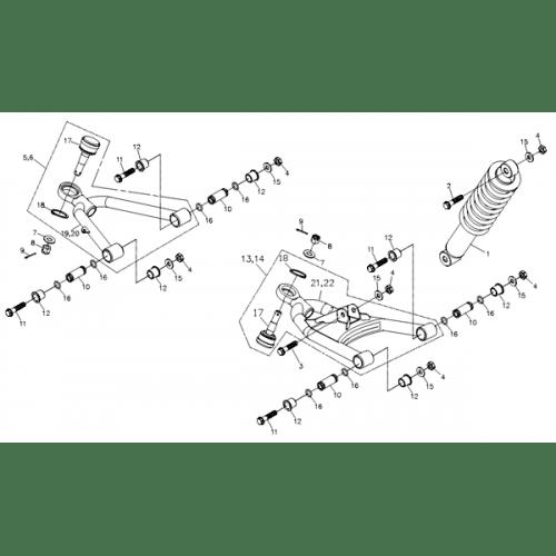 A-arm (Adly ATV Q280)