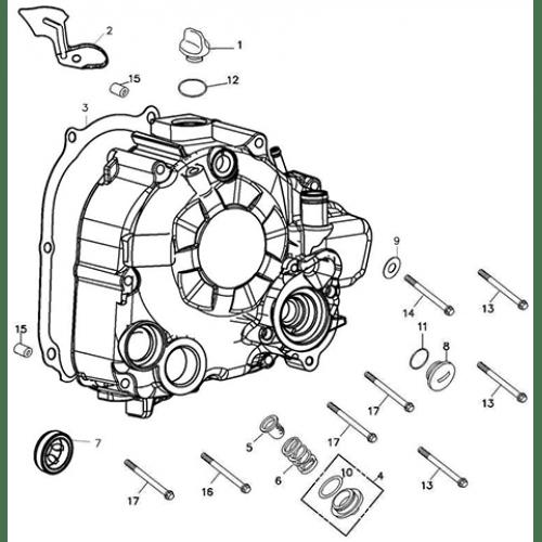 Right Crankcase Cover (Adly ATV Q300)