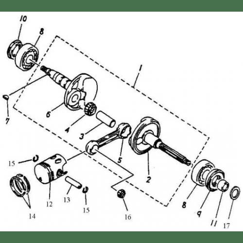 Crankshaft, Piston (Adly Jet 50)