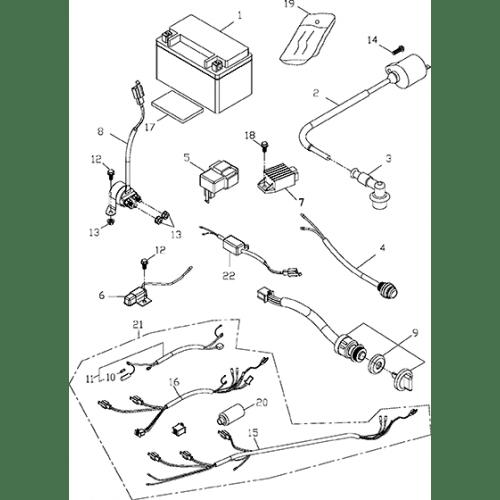 Electrical Equipment (Adly GK-125 (BK-125) 2005)