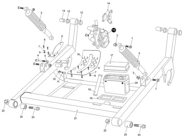 Rear Swing Arm (Kasea LM150IIR 2000)