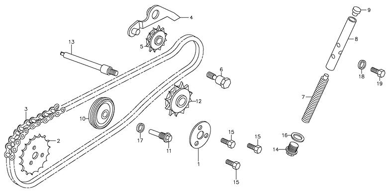 Cam Chain, Tensioner (Adly ATV 90Z2 4T (Gear Drive))