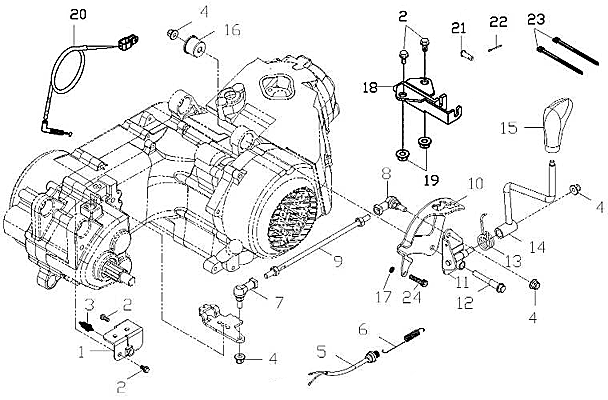 Gear Shift System (Adly ATV 150S II CrossXRoad)
