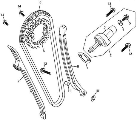 Cam Chain, Tensioner (Adly ATV 300S Interceptor)