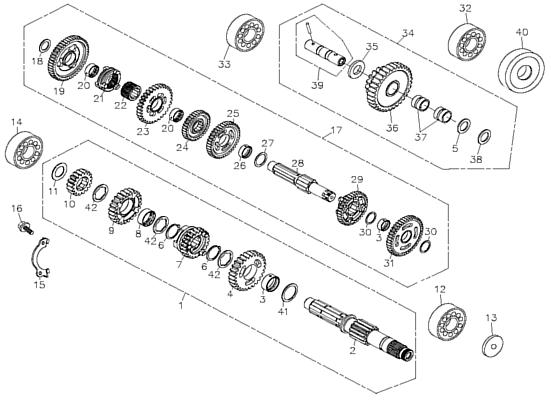 Transmission (Adly ATV 300U II)