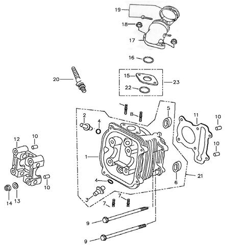 Cylinder Head (Silver Fox (4 Stroke))