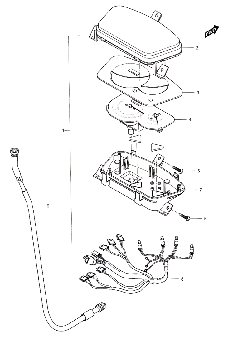 Speedometer (Hyosung Sense SD-50 Scooter)