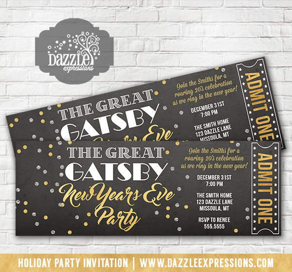 Save Date Cards New Years Eve Wedding