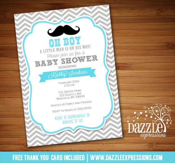 Boy Baby Shower Invitations Free