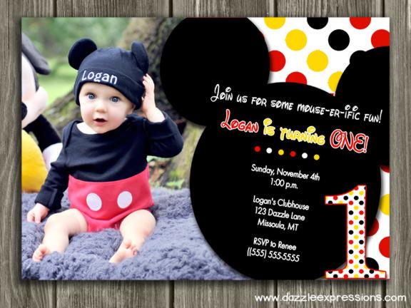 Printable Mickey Mouse Birthday Invitation Kids First