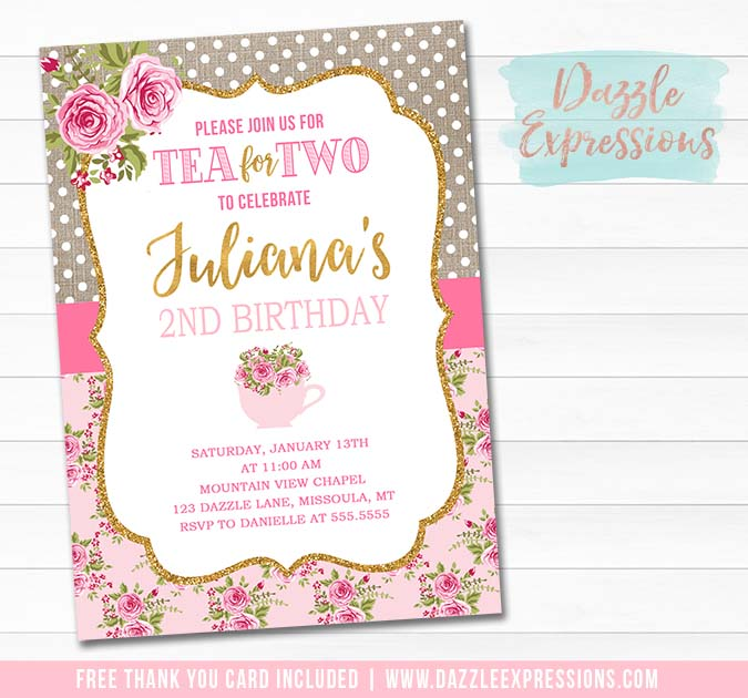 Tea Party Invite Poem Invitation Wording