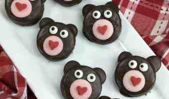 Easy Valentines Sweetheart Oreo Bear Cookies #recipe